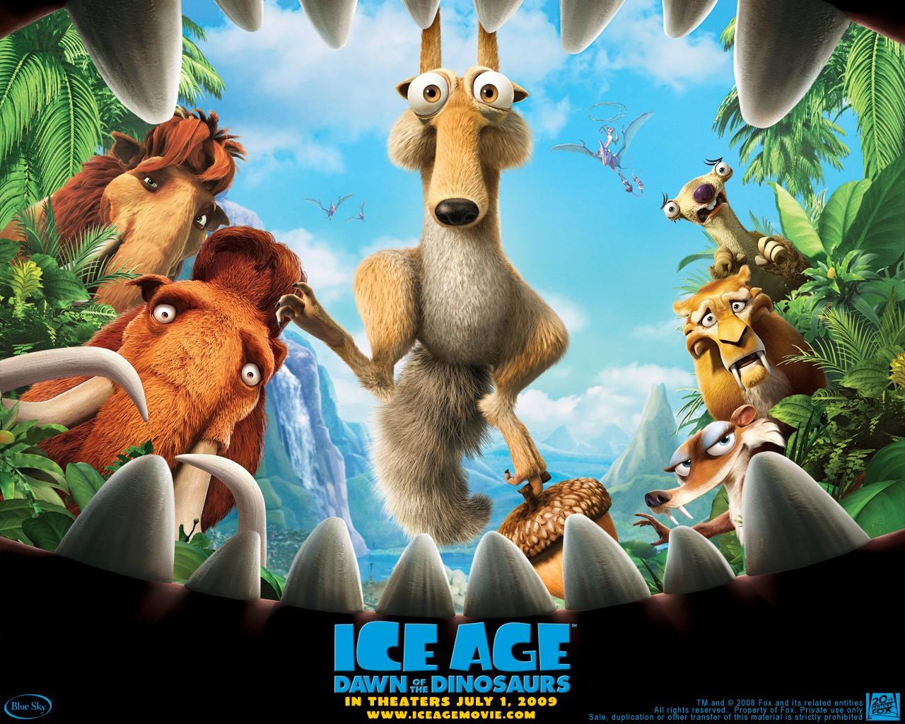 Un wallpaper del film  L'era glaciale 3 - L'alba dei dinosauri