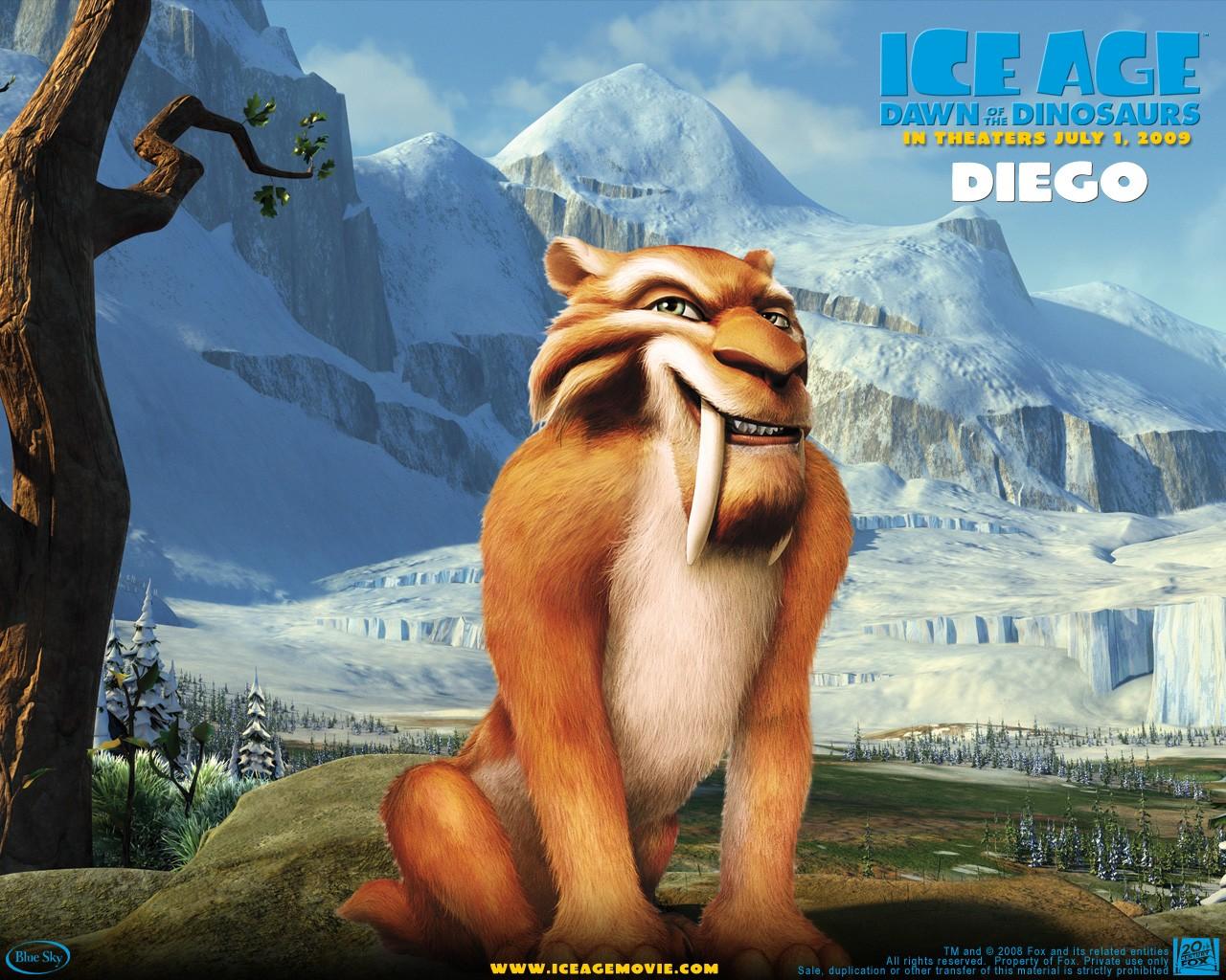 Un wallpaper del film  L'era glaciale 3 - L'alba dei dinosauri - Diego