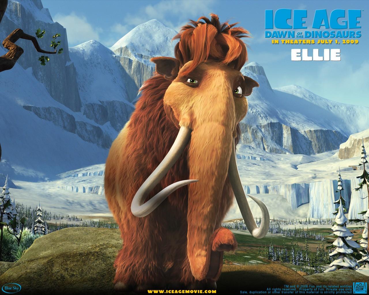 Un wallpaper del film  L'era glaciale 3 - L'alba dei dinosauri - Ellie