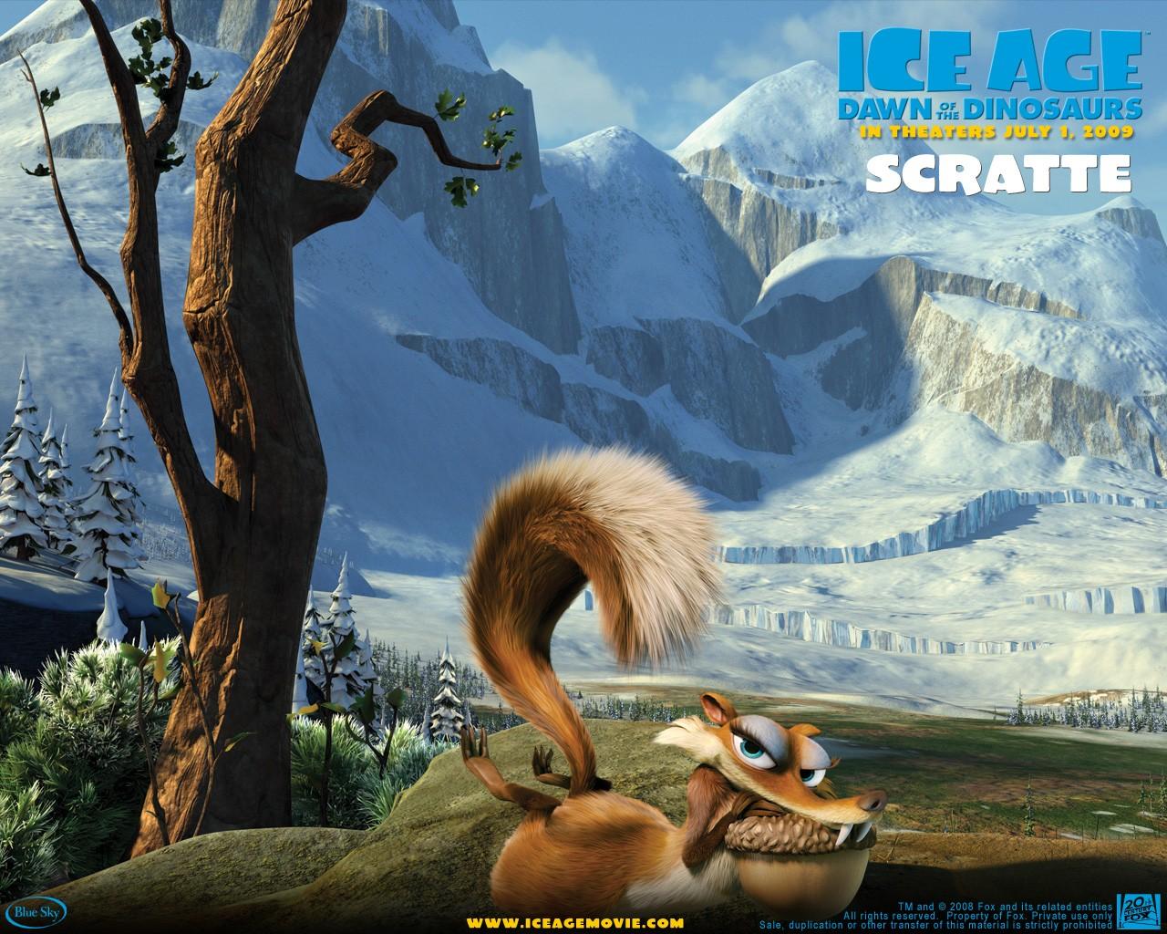 Un wallpaper del film  L'era glaciale 3 - L'alba dei dinosauri - Scratte