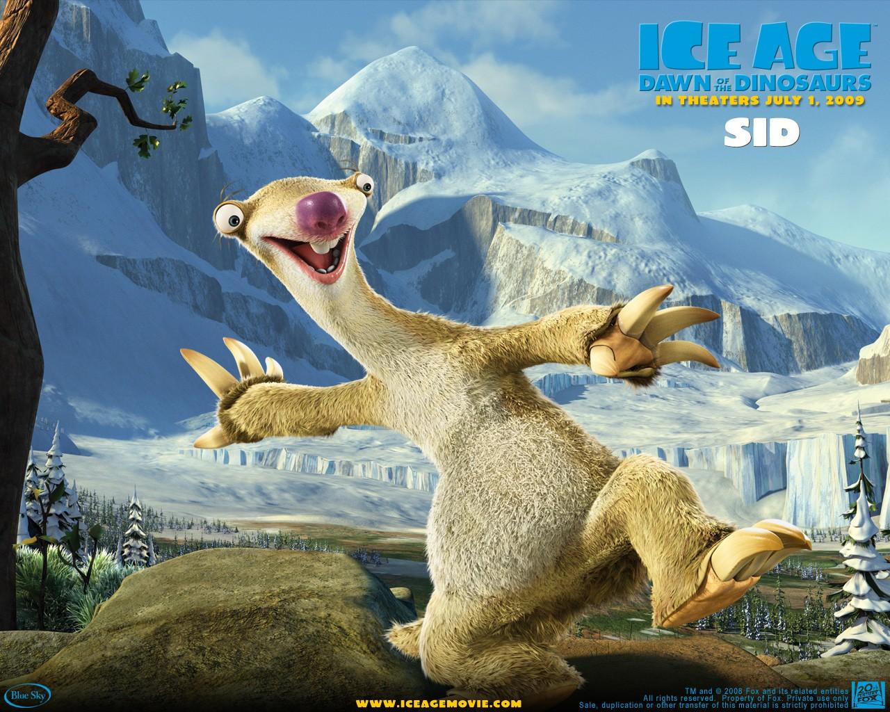 Un wallpaper del film  L'era glaciale 3 - L'alba dei dinosauri - Sid