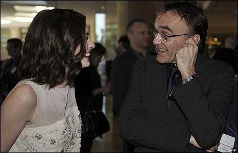 Anne Hathaway e Danny Boyle all'Oscar Luncheon 2009