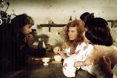 Federica Lenzi sul set del film Casa Eden