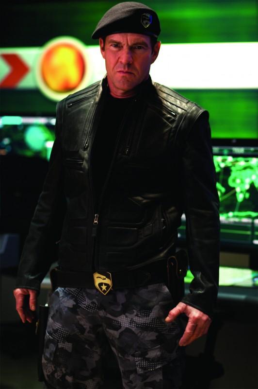 Dennis Quaid in un'immagine promozionale dell'action movie G.I. Joe