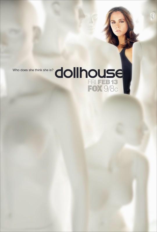 Un poster di Dollhouse, la nuova serie creata da di Joss Whedon
