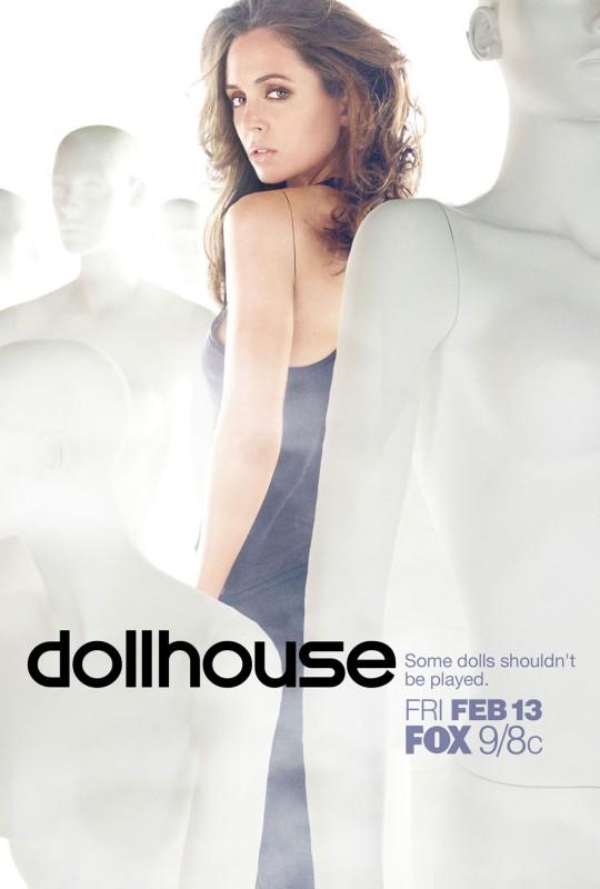 Un poster promozionale della serie tv Dollhouse