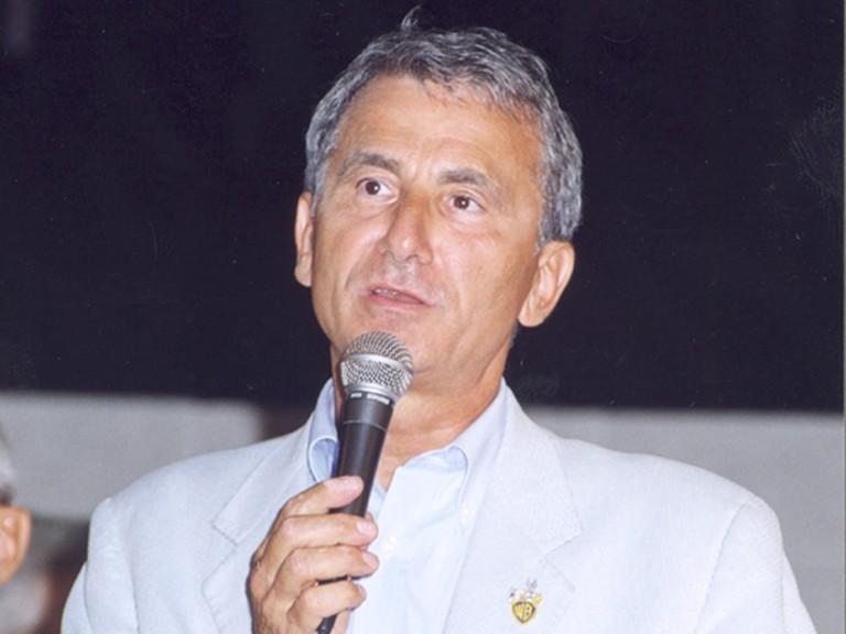 Giuseppe Laganà in occasione del Premio Pulcinella Oro - Positano 2005