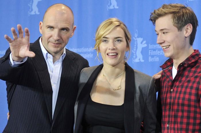 Kate Winslet  tra Joseph Fiennes e David Kross presentano The Reader al Festival di Berlino 2009