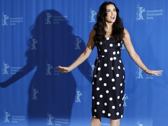 Demi Moore al Festival di Berlino per la presentazione del film Happy Tears