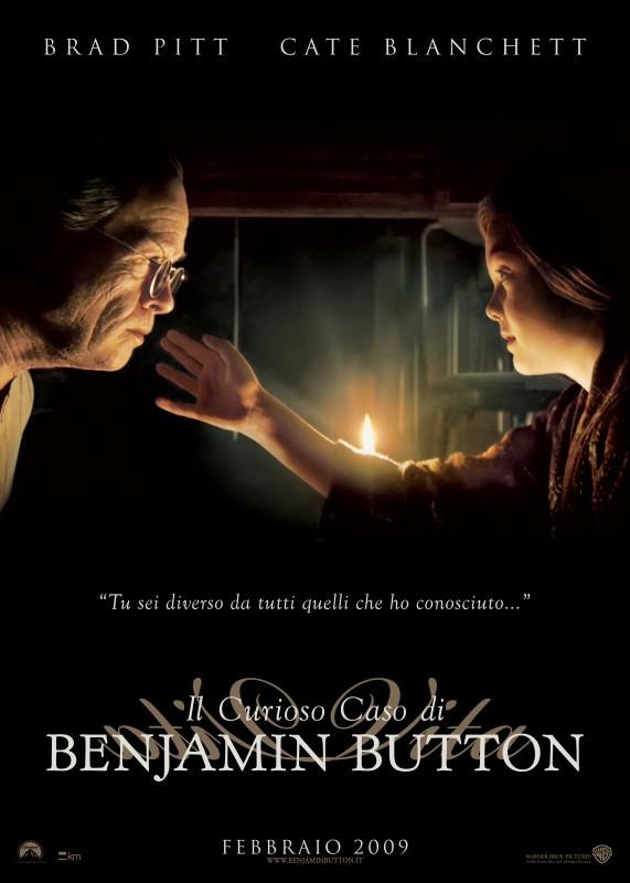 La versione italiana di uno dei poster realizzati per Il curioso caso di Benjamin Button