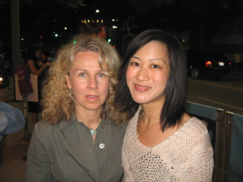 Betty Ouyang con la regista Courtney Hunt, che l'ha diretta in Frozen River.