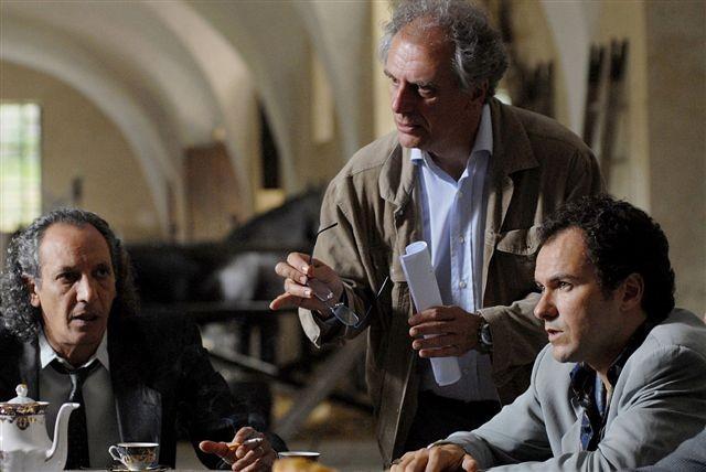 Antonio Buonuomo, Marco Risi e Massimiliano Gallo sul set del film Fortapàsc