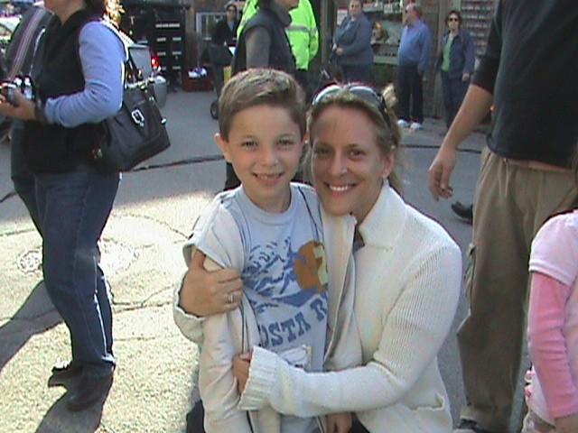 Il piccolo Salvatore Santone sul set