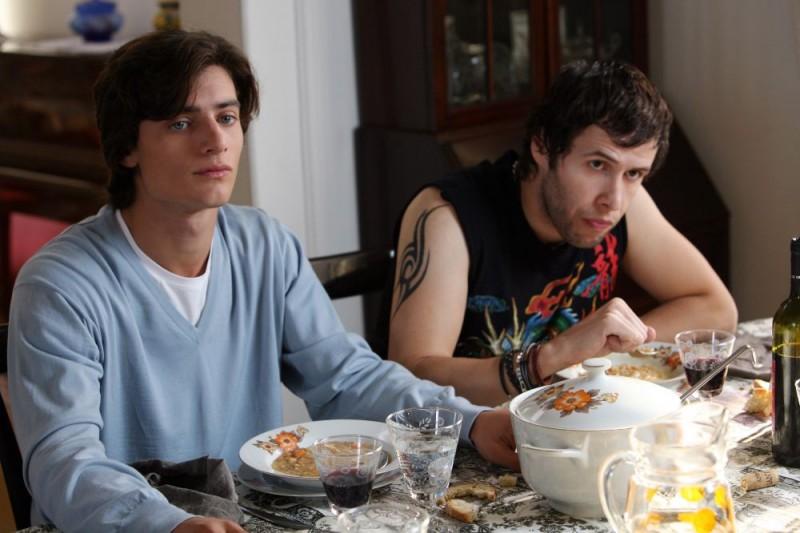 Rocco Giusti e Moris Verdiani in una scena dell'episodio 'Padri e figli' del film I mostri oggi