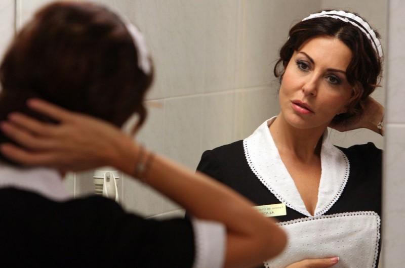 Sabrina Ferilli in una scena dell'episodio 'Euro più euro meno' del film I mostri oggi