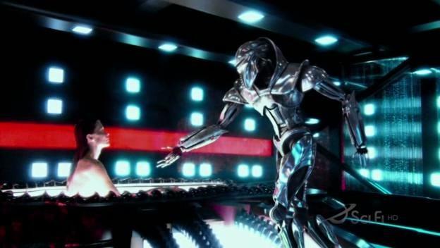 Una scena dell'episodio No Exit di Battlestar Galactica