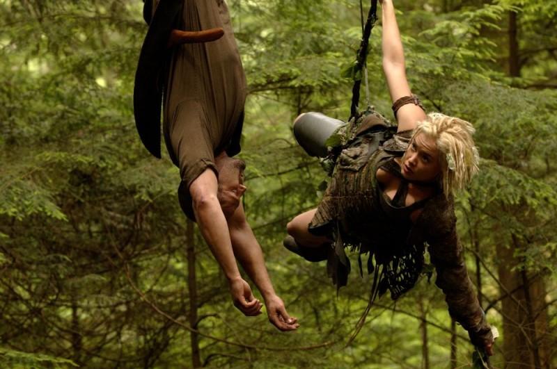 Jason Statham e Kristanna Loken sul set del film In the Name of the King