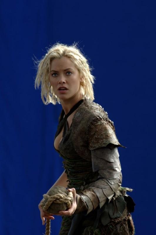 Kristanna Loken in una foto scattata durante le riprese del film In the Name of the King