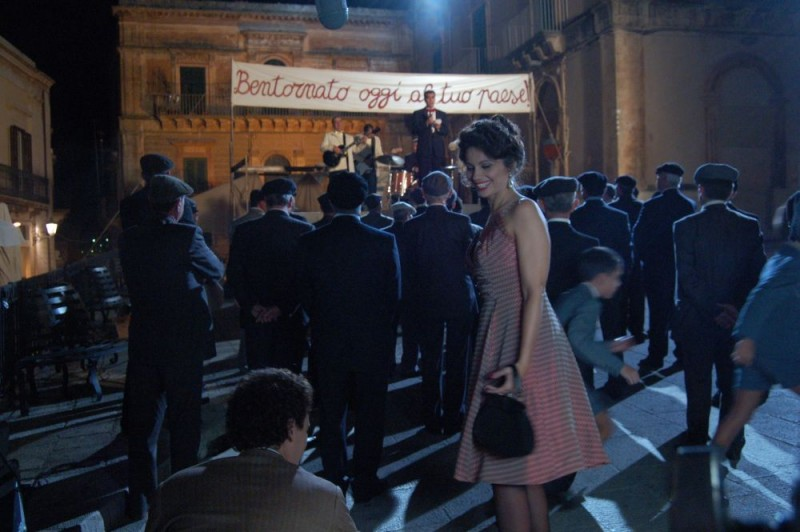 Elena Presti sul set del film Quell'estate felice