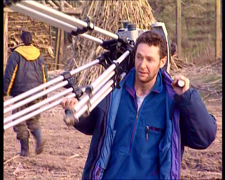Fabio Olmi al lavoro su un set cinematografico