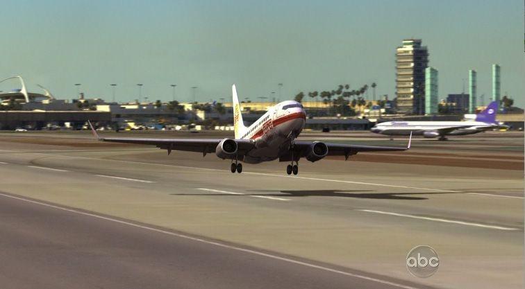 Il decollo del volo Ajira Air nell'episodio 316 di Lost