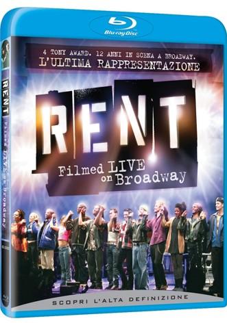 La copertina di Rent: Filmed Live on Broadway (blu-ray)