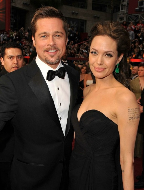 Brad Pitt e Angelina Jolie sul tappeto rosso degli Oscar 2009