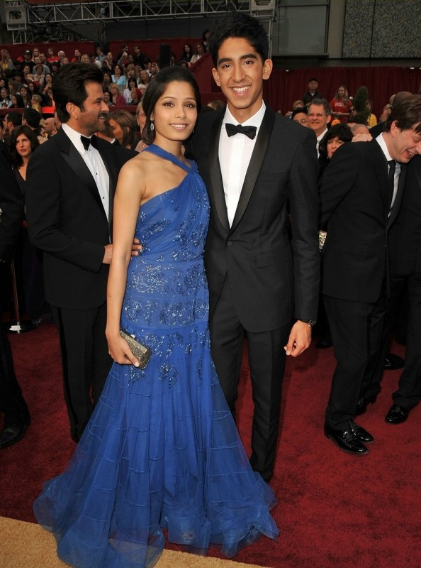 Dev Patel e Freida Pinto sul red carpet degli Oscar 2009