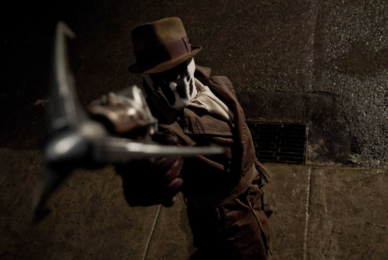 Jackie Earle Haley interpreta Rorschach nel film Watchmen, diretto da Zack Snyder