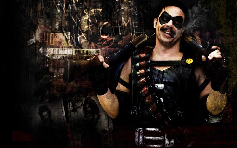 Jeffrey Dean Morgan, alias il Comico, in un'immagine promozionale del film Watchmen