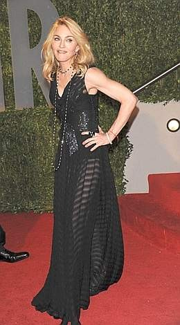Oscar 2009: Madonna all'after party organizzato da Vanity Fair