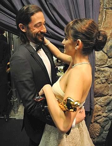 Oscar 2009: Penelope Cruz con Adrien Brody
