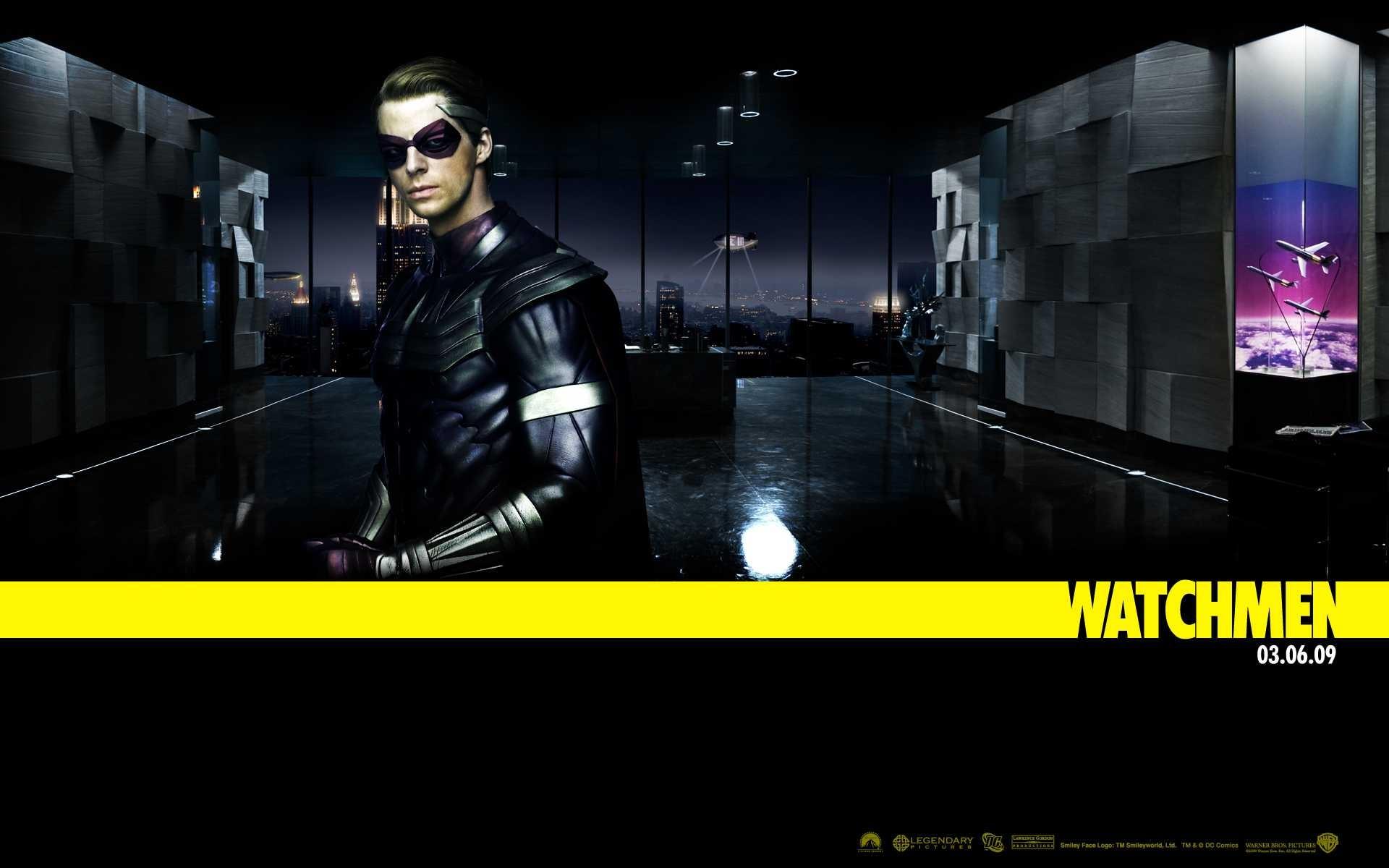 Un wallpaper del film Watchmen con Matthew Goode nei panni di Ozymandias