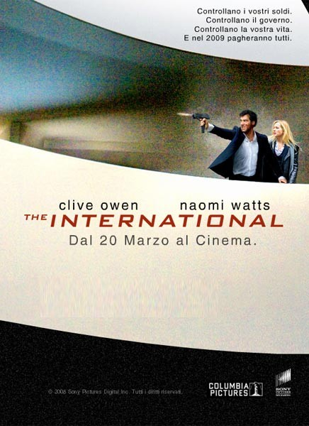La locandina italiana di The International