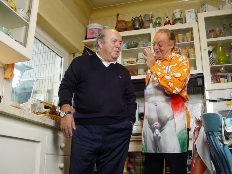 Lino Banfi e Renzo Arbore in un'immagine del documentario Focaccia Blues