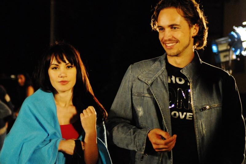 Crisula Stafida e Raffaello Balzo sul set del film Il Soffio dell'Anima