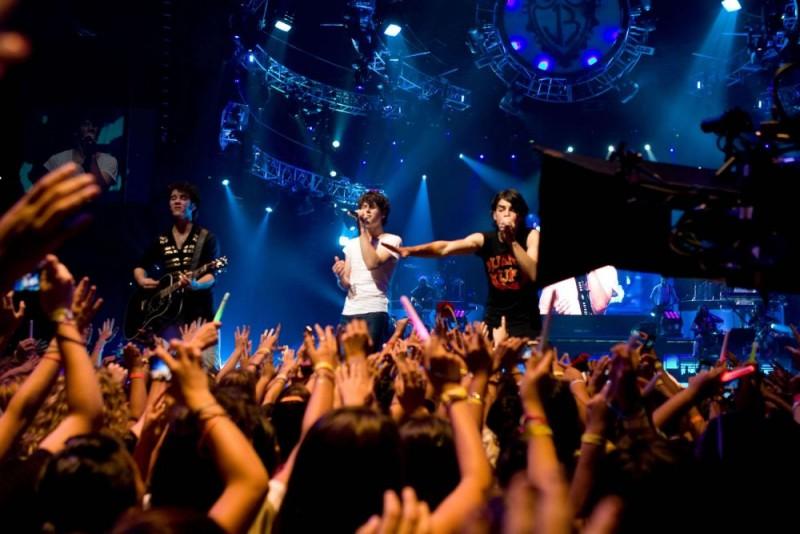 Un'immagine del film-concerto Jonas Brothers: The 3D Concert Experience