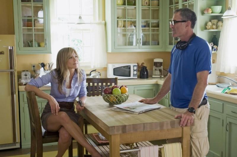 Jennifer Aniston e il regista David Frankel sul set del film Io & Marley