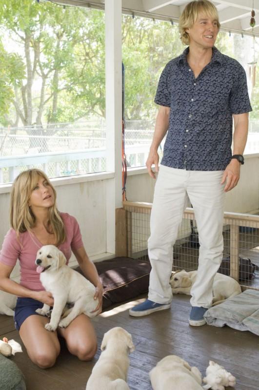 Jennifer Aniston e Owen Wilson in una scena della commedia Io & Marley