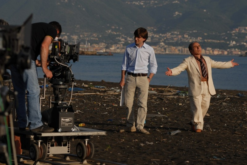 Libero De Rienzo ed Ernesto Mahieux sul set del film Fortapàsc