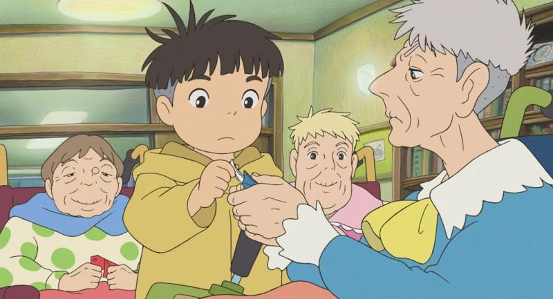 Un'immagine del film d'animazione giapponese Ponyo sulla scogliera