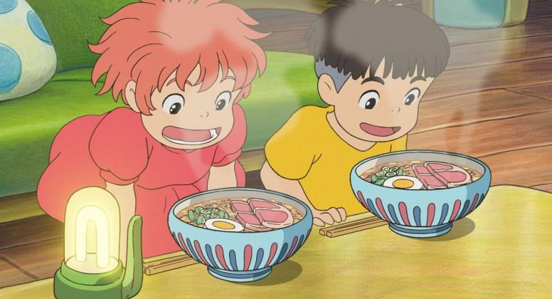 Un'immagine del film d'animazione Ponyo sulla scogliera, diretto dal genio dell'animazione Hayao Miyazaki