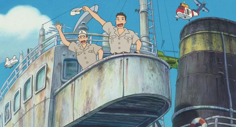 Un'immagine del film Ponyo sulla scogliera diretto da Hayao Miyazaki