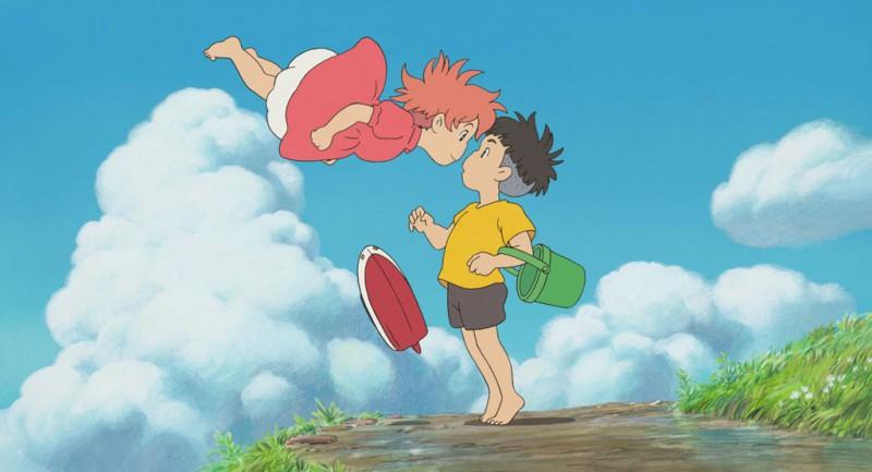 Un'immagine del film Ponyo sulla scogliera, diretto dal genio dell'animazione Hayao Miyazaki