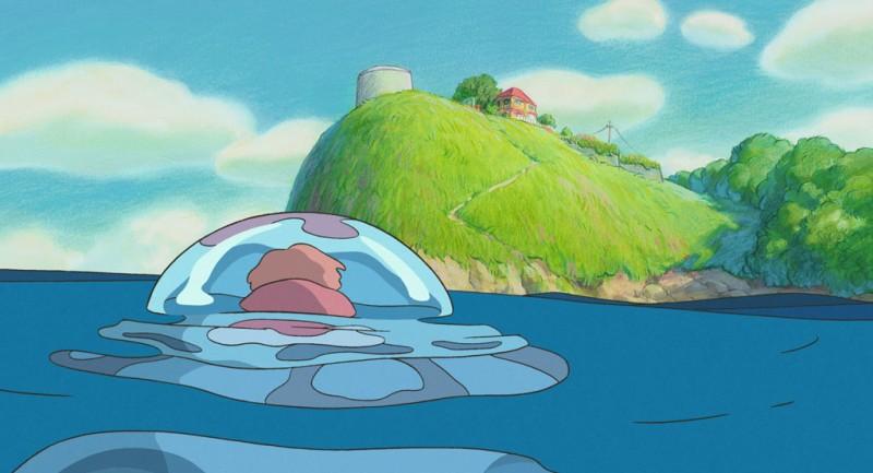 Un'immagine di Ponyo sulla scogliera