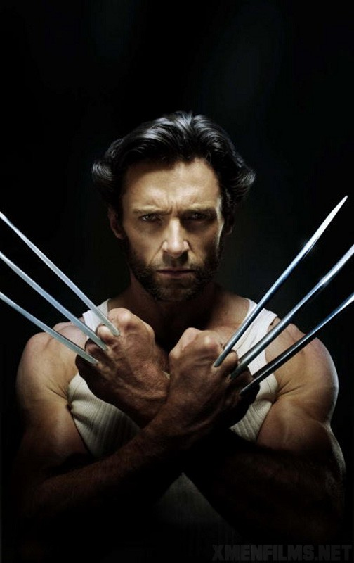 Un intenso primo piano di Hugh Jackman/Logan in  X-Men - Le origini: Wolverine