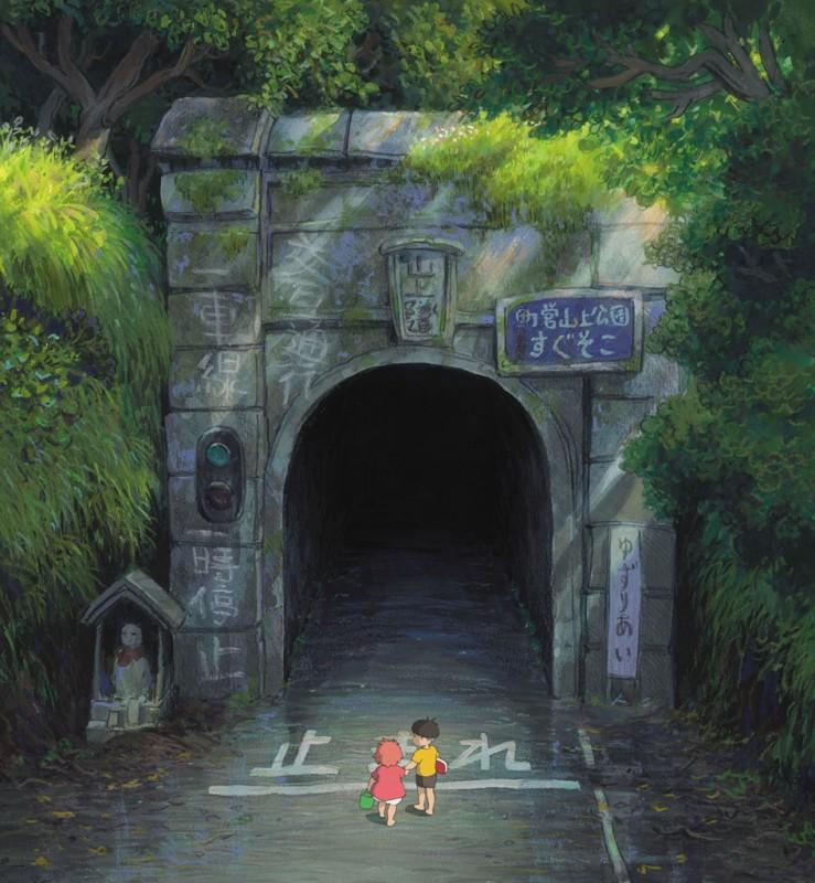 Una scena del film d'animazione Ponyo sulla scogliera di Hayao Miyazaki