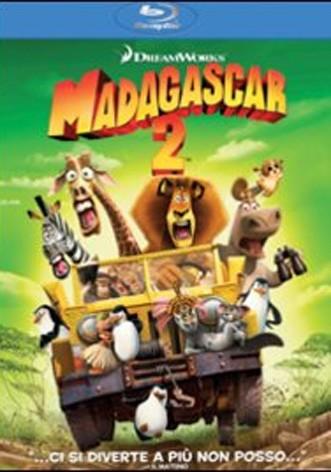 La copertina di Madagascar 2 (blu-ray)