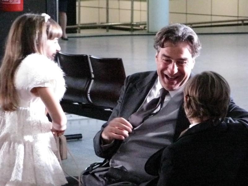 La piccola Angelica Cinquantini sul set della serie tv I Cesaroni 3