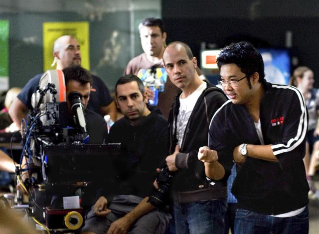 Il regista Kevin Tancharoen sul set del film Fame